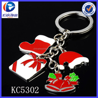Wholesale alibaba golden supplier merry christmas keychain for present christmas ornament