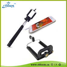 Factory cheapest promotion gift wired cable take pole monopod wired selfie stick