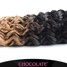 Chocolate hairJerry curl ombre color 1b27 soft Bouncy curl 6A grade brazilian hair 100% human hair weft 2015 new year