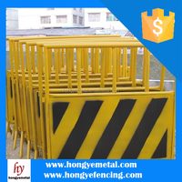 Temporary Fence Wheel Rolling Temporary Gate Temporary Plastic Construction Wall Fence