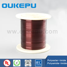 Double polyester enameled round copper winding wire,copper wire 50mm2,polyimide enameled copper wire