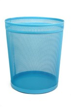 High Quality Middle Lace-speed Rail Network Home Metal Mesh Waste Bin
