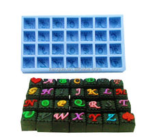 28 letters square silicone letter cake mold/number cake mould