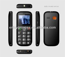W76 1.77 Inch Dual Sim senior mobile phone without camera big keyboard mobile phone for elderly