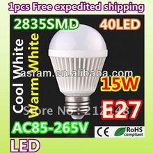 5W LED bulb globes CE/RoHS E27 Base 90-264VAC CE/RoHS
