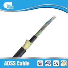 CE/ISO approved adss fiber optic price in fterial fiber cable g655