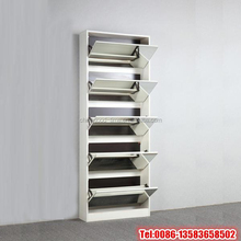 Melamine mdf shoe rack with mirror