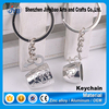 good souvenir gift use metal 3d mini cup shape keychain for couples