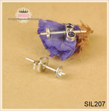 925 sterling silver Earring Post Earring studs With Cup Pads back stoppers earnuts