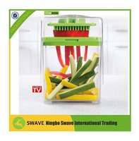 Chop Magic As Seen On TV Food Chopper Fruit Vegetable Slicer Manual Processor