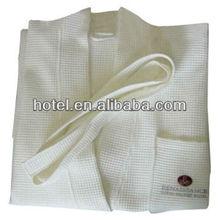 kimono collar waffle bathrobe,customized waffle bathrobe