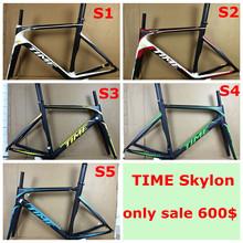 2015 TIME SKYLON Carbon Road frameset carbon fiber bicycle frame road racing bike frame 3k BB386&BB30&BSA frame free shipping