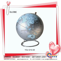 plastic deskpot globe with wood base YGL1212-20