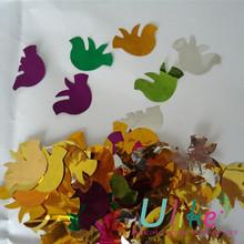 2014 bird shaped metallic wedding confetti wholesale decorative bird cages