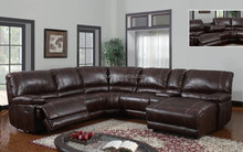 Modern Reclining Leather 6 Piece Sectional Sofa Set (MK6023)
