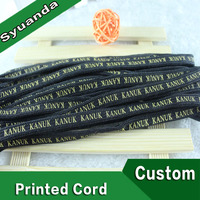 Custom Logo Polyester Flat Printed Draw String Cord