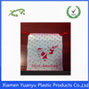 Transparent small gifts packing christmas plastic bag with drawstring.