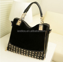 Fashion Women's Retro Handbags new stylish Handbag Rivet bag Handtasche nubuck bag