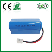 11.1V Li-ion rechargeable battery 1800mAh 18650
