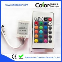 3 led channels controller 24 keys rf wireless rgb mini led controller