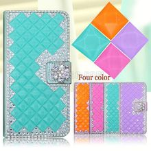 Luxury bling crystal diamond leather 3D cell phone case for Blu Dash jr TV,leather cover case for blu Dash ir TV case