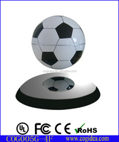 Floating world globe / magnetic levitation turning soccer ball
