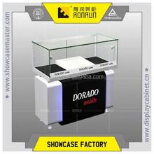 Hign quality corner showcase cabinet for mobile phone store interior design