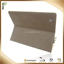 Popwide 2015 Wholesale High Quality Adjustable Leather Case for Ipad, waterproof cover for pad