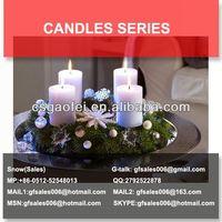 teak wood candle holder