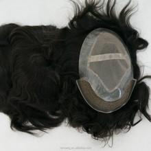 100% human hair fine welded mono toupee for men, women