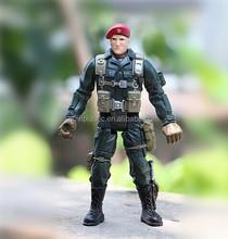plastic big soldier custom cartoon action figure, soldier pvc custom actin figure, American solider action figure