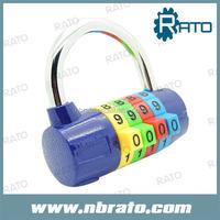 colorful 4 code cute digital bag padlock