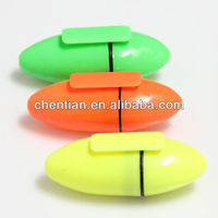 Non-toxic high quality unique egg shape highlighter marker for gift