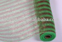 Floral plastic wrapper mesh