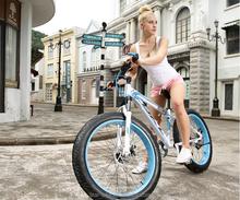 China manufacture aluminum frame 27s big tire with fat tire bike