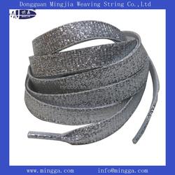 2015 Factory custom 1cm width shoelace for wholesale