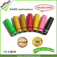 2014 top sale high quality 808d batteries & 808d kit & disposable e cigarette 808d cartomizer