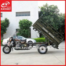 Adult Three Wheel Bicycle / Cargo Three Wheel Bike Pedal Cargo Tricycle With Fuel Tank Cover