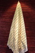 cheap shine and glitter polyester diamond gold sequin Dubai wedding veil