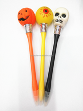 LED lightVinyl Halloween skull ballpoint pen Halloween gift pen