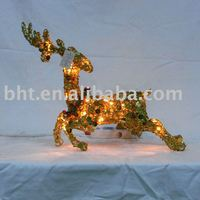 holiday Xmas decoration deer with lights