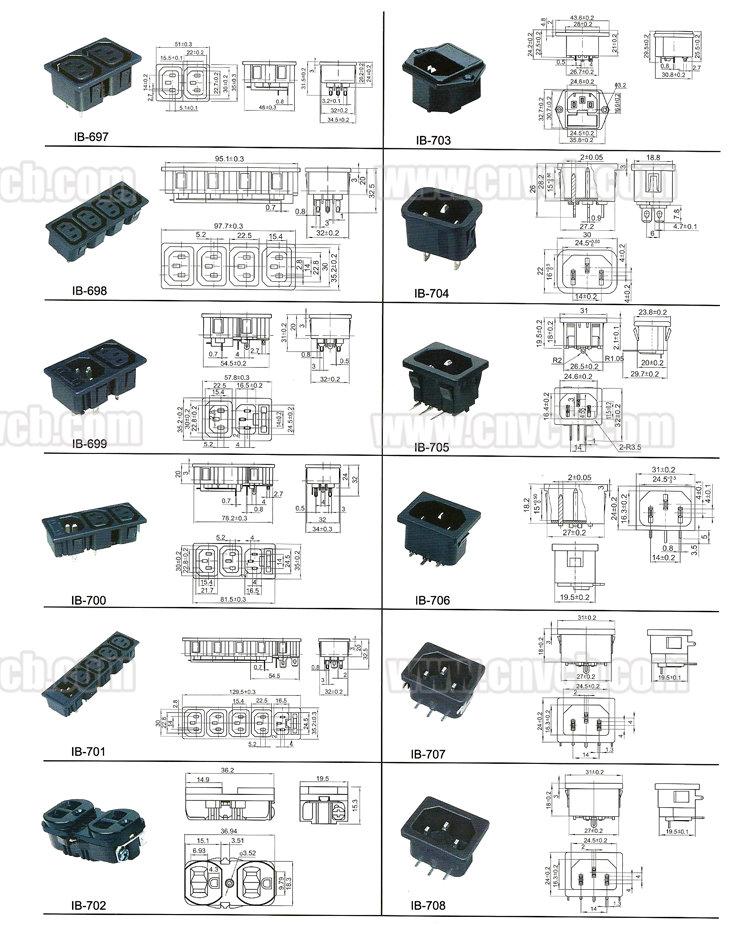 Высокое качество электрический провод с выключателем и разъем ac power plug разъем