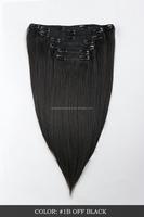Alibaba wholesale stock 100% human hair fashion brazilian yaki clip in hair extensions for black women