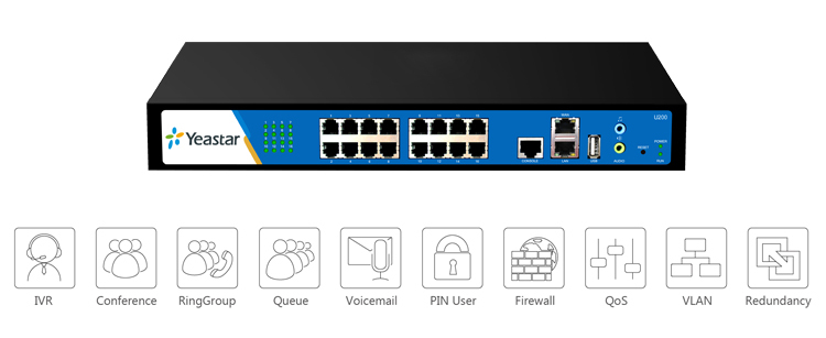 Yeastar 200 пользователей PSTN бри GSM UMTS gsm-voip IP атс