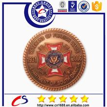 Wholesale Bronze 2015 Custom Metal Coin for souvenir