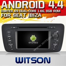 WITSON Android 4.4 CAR DVD PLAYER GPS NAVIGATION for SEAT IBIZA with A9 CHIPSET FRONT DVR STEERING WHEEL CONTROL RDS 1080P
