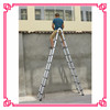 2.8M+2.8M Aluminum Double Sided Decotative Bamboo Ladder, DLT709, 5.6m Telescopic Ladder with EN 131, double agility ladder