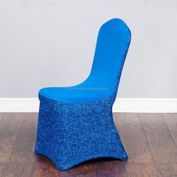 Royal Blue spandex elastic chair seat cover