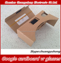2015 Latest Best Google cardboard VR 3D glasses V2.0 for 3.5 4 .0 4.7, 5.0, 5.7 6.0inch phones Virtual reality with NFC