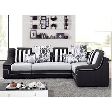 hot sale brown fabric corner sofa AB-16 in our showroom